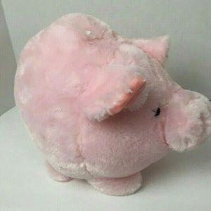 "Jumbo Large Cute Plush PINK Piggy Bank 13"" long 10"